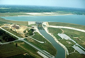 English: Alum Creek Dam near Columbus, Ohio, U...