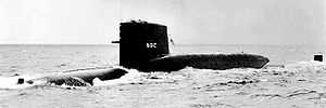 USS Abraham Lincoln (SSBN-602) - Image: USS Abraham Lincoln (SSBN 602)two
