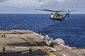 USS Bonhomme Richard conducts flight operations. (9183893593).jpg