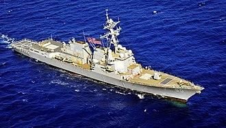 USS Chafee - Image: USS Chafee (DDG 90) underway off Hawaii in March 2014