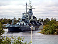 USS North Carolina, seen from the eastern shore of Cape Fear River - panoramio.jpg