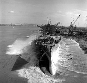 USS Platte (AO-186) - USS Platte launched at New Orleans on 30 January 1982.