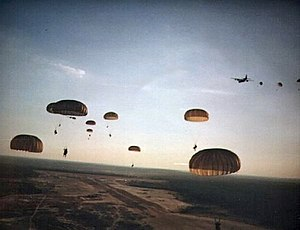US Army Rangers parachute into Grenada during Operation Urgent Fury.jpg