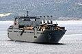 US Navy 040107-N-0780F-018 Large, Medium-Speed Roll-on-Roll-off Ship USNS Benavidez (T-AKR 306) heads out of Souda harbor following a brief port.jpg