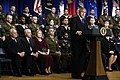US Navy 061218-D-7203T-024 President George W. Bush addresses the audience during the oath of office ceremony for Robert M. Gates as the 22nd Secretary of Defense.jpg