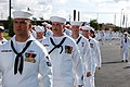 US Navy 070914-N-1057H-280 Naval Mobile Construction Battalion (NMCB) 11 marches onto Naval Construction Battalion Center Gulfport's parade field during a commissioning ceremony.jpg