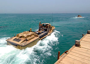 US Navy 080723-N-2600H-090 Sailors assigned to Beach Master Unit (BMU) 1 launch a lighter amphibious resupply cargo craft during a training evolution.jpg
