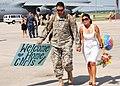 US Navy 090804-N-4698K-036 Aviation Electronics Technician 2nd Class Chris Hamilton walks with his wife.jpg