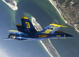 US Navy 110517-N-BA418-014 U.S. Marine Corps Maj. Brent Stevens, left wingman for the 2011 U.S. Navy flight demonstration squadron, the Blue Angels.jpg