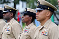 US Navy 110916-N-KV696-369 The newest National Capital Region chief petty officers stand at attention during the chief petty officer pinning ceremo.jpg