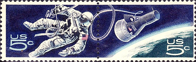 Accomplishments in Space U.S. Commemorative Issue of 1967 US Space Walk 1967 Issue-5c.jpg