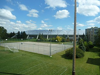 University of Calgary - The Olympic Oval exterior and basketball courts