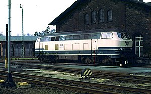 DB Class V 160 - Image: Uelzen 216 176 8 1983 11 27