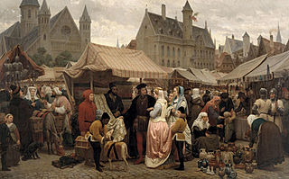 Fair in Ghent in the Middle Ages