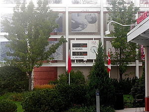 United States Olympic Training Center - Digital displays counting the days until the 2008 Summer Olympics and 2010 Winter Olympics at the Colorado Springs OTC during the Beijing Games.