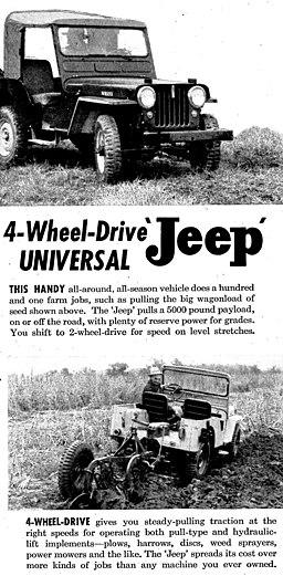 Universal Jeep advertisement 1950