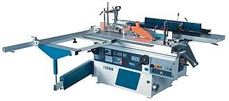 Combination machine - Image: Universal combined woodworking