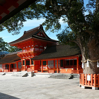 Japanese Buddhist architecture - Usa Hachiman-gū is now a Shinto shrine, but used to be also a temple