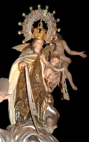 Beniaján - Our Lady of Mount Carmel, 18th-century statue