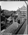VIEW LOOKING WEST FROM TOP FLOOR - Winchester House, 525 South Winchester Boulevard, San Jose, Santa Clara County, CA HABS CAL,43-SANJOS,9-5.tif