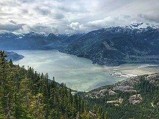 Sea-to-Sky Corridor Subregion of British Columbia in Canada