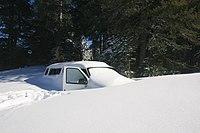 Van covered by snow in Boreal California.jpg