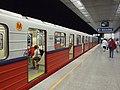 Varšava, Źoliborz, stanice metra Słodowiec.JPG