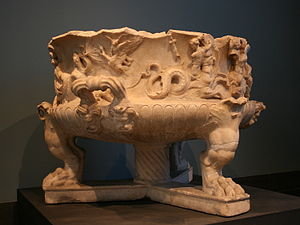 Torlonia Vase - The neo-Attic vase found on the Lungotevere in Sassia.