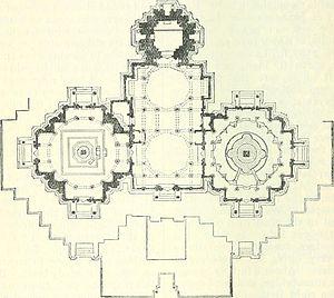 Girnar Jain temples - Plan of Vastupal Tejpal Jain Temple