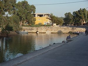 English: Venetian bridge over Alykes river, Al...