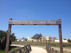Venetian Waterway Park entrance.JPG