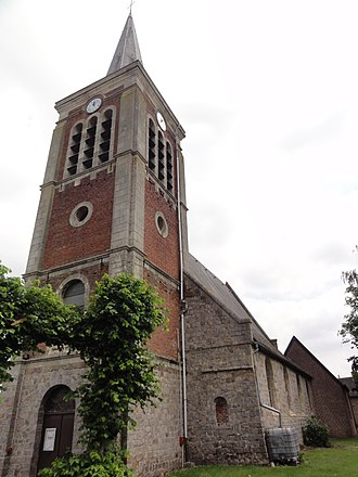 Verchain-Maugré - Image: Verchain Maugré (Nord, Fr) église