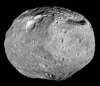 4 Vesta - Composite greyscale image of Vesta taken by ''Dawn''