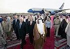 Vice President Dick Cheney walks with Saudi Crown Prince Sultan bin Abdulaziz