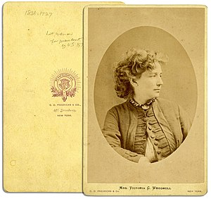 Victoria Woodhull - Image: Victoria Woodhull by CD Fredericks, c 1870