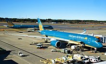 Vietnam Airlines Double Airbus A350 in Narita International Airport.jpg