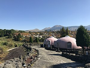 ヴィレッジゾーンと阿蘇山
