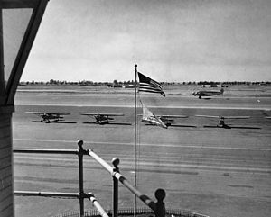 View from tower, Orange County Airport, 1950s.jpg