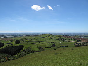Bombay Hills - View looking north-west towards Auckland from top of Mount Puketutu