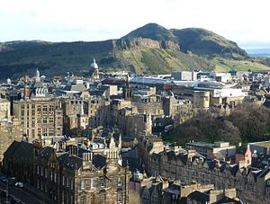 Timeline of Edinburgh history - View of Arthur's Seat from Edinburgh Castle