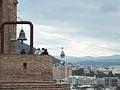 View on Narikala and cable lift, Tbilisi.jpg