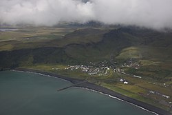 Vík í Mýrdal from above