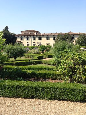 Villa di Castello - The villa and garden of Villa di Castello in July 2013
