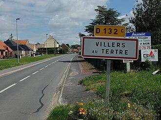 Villers-au-Tertre - Image: Villers au Tertre Entrée de la commune
