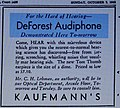 Vintage DeForest Audiphone Carbon Hearing Aid Ad From The Detroit Press, October 2, 1932 (14224377234).jpg