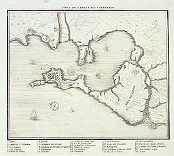 1813 Map of Cádiz