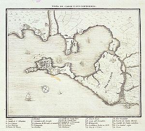 Isla de León - La Isla de León, still totally separated from the peninsula