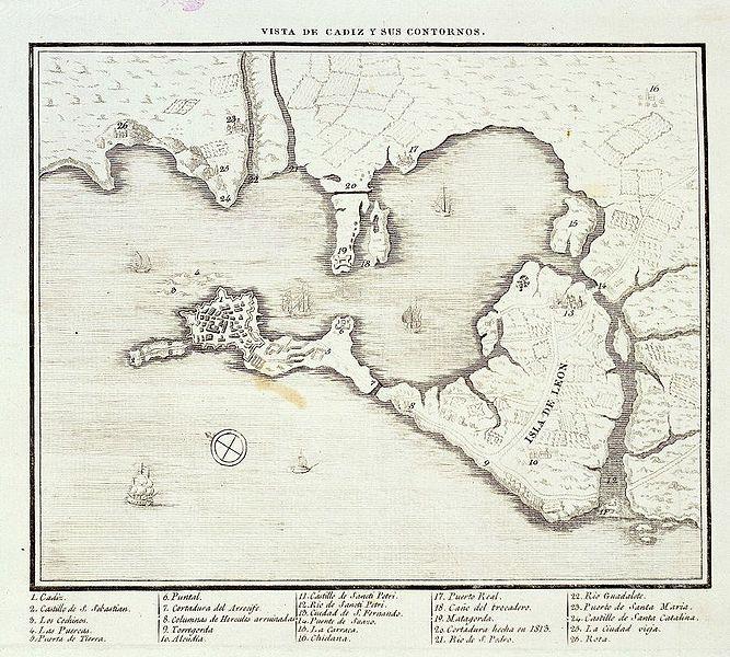 File:Vista de Cádiz y sus contornos hacia 1813.jpg