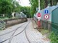 Vozovna Motol, vjezd na objízdnou kolej.jpg
