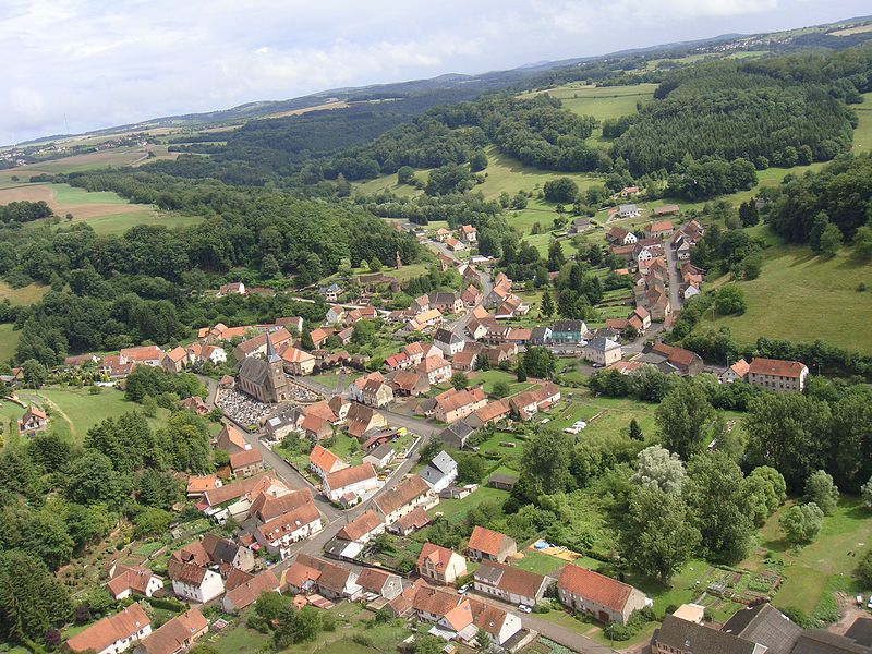 Vue aérienne de Walschbronn